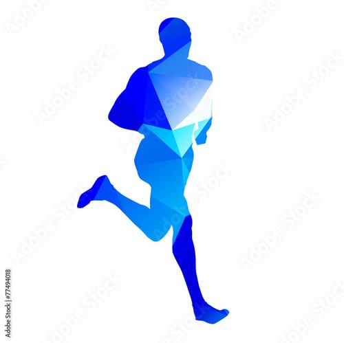 Fototapeta Running man abstract silhouette