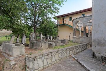 Medieval Khan cemetery, Bakhchysarai, republic Crimea