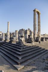 Temple of Apollo columns in Didyma antique city Didim Turkey