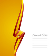 Spain left side brochure vector