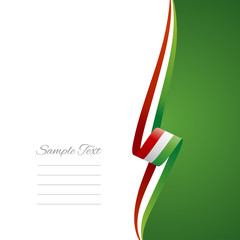 Hungary right side brochure cover vector