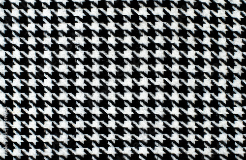 Fotobehang Stof Black and white houndstooth pattern. Dogstooth check design.