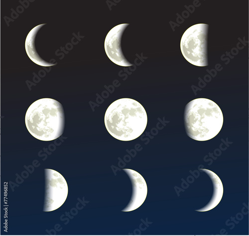 Moon phases vector - 77496852
