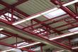 canvas print picture - Stahlträger in einer Industriehalle