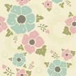 "Beige vintage pattern ""Nostalgic flowers"""