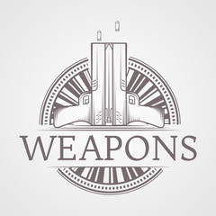 Abstract illustration of traumatic weapons badge