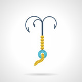 Flat vector icon for grappling hook poster