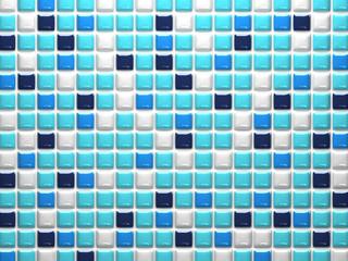 Random Blue Mosaic Tiles For Background