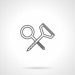 Contour vector icon for climbing hook