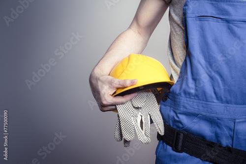 Leinwanddruck Bild Bauarbeiter