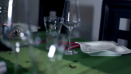 a beautifully and specially prepared table for unique occasion