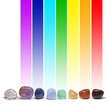 Chakra healing crystals and their colors - 77500693