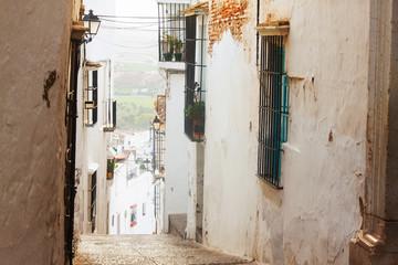 view of  picturesque  street in   Arcos de la Frontera