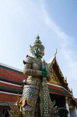 Guardiano al Wat Phra Kaew Temple, Bangkok, Thailand