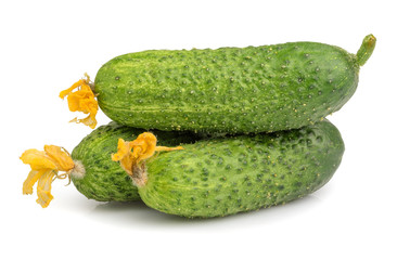Cucumbers isolated on white