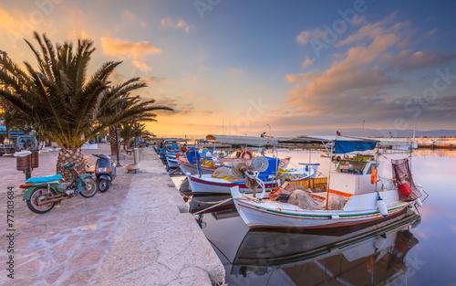 Leinwanddruck Bild Fishing boats Greece