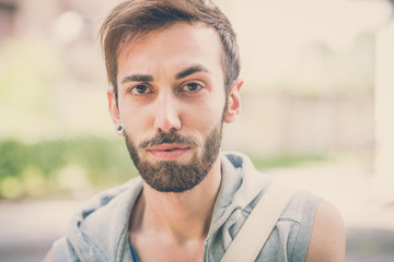young hipster gay man