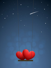 Hearts on swing
