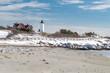 Nobska Point Lighthouse in Snow