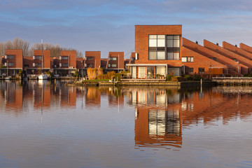 Modern residential houses on the waterfront