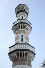 Minaret of Kuala Lumpur Jamek Mosque in Malaysia