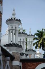 Minarets of Kuala Lumpur Jamek Mosque in Malaysia