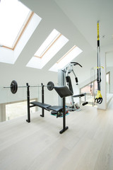 Private gym inside house
