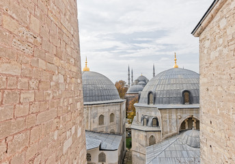 Blue Mosque in Istanbul Turkey from Hagia Sofia