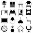 interior design, furniture icons
