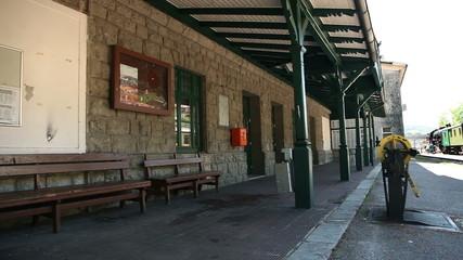 Shot of the empty traiin station