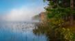 Foggy morning on the lake.
