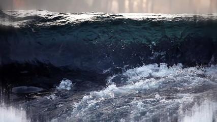 Still shot of running water