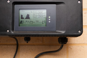 Photovoltaic inverter installed in a home