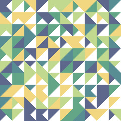 Seamless geometric, vintage pattern. With triangles.