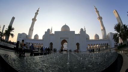 time lapse Sheikh Zayed Grand Mosque Abu Dhabi