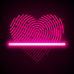 Heart shaped fingerprint scanner concept