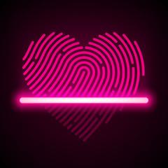 Heart shaped fingerprint scanner concept