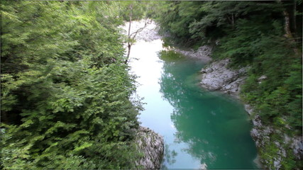 Diversity of river Soca in Slovenia.