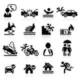 Fototapety Insurance icons set. Vector Illustration.