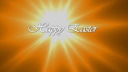 Animated inscription Happy Easter