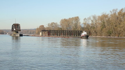 Fraser River Tugboat and Logboom