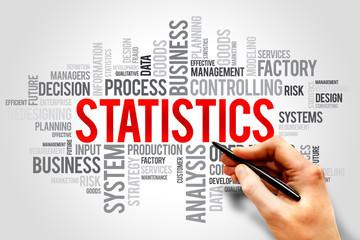 STATISTICS word cloud, business concept