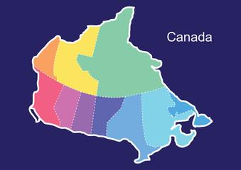 Canada map vector, canada, canada vector