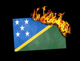 Flag burning - Solomon Islands
