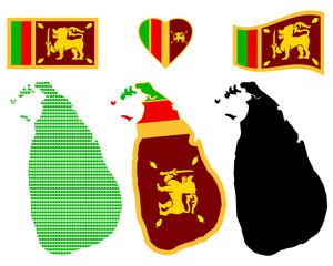Map of the Democratic Socialist Republic of Sri Lanka