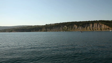 Panoramic shot of the adriatic coast made from the boat