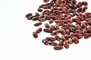 Photos of lentils on a white background.