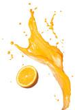 orange juice splashing - 77520836