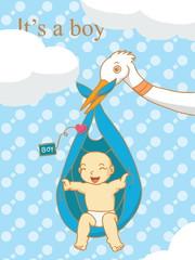 It's a boy baby vector.