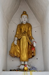 Ancient golden Buddha in Chiang Mai, Thailand